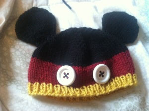 And finally the finished Mickey Mouse hat!